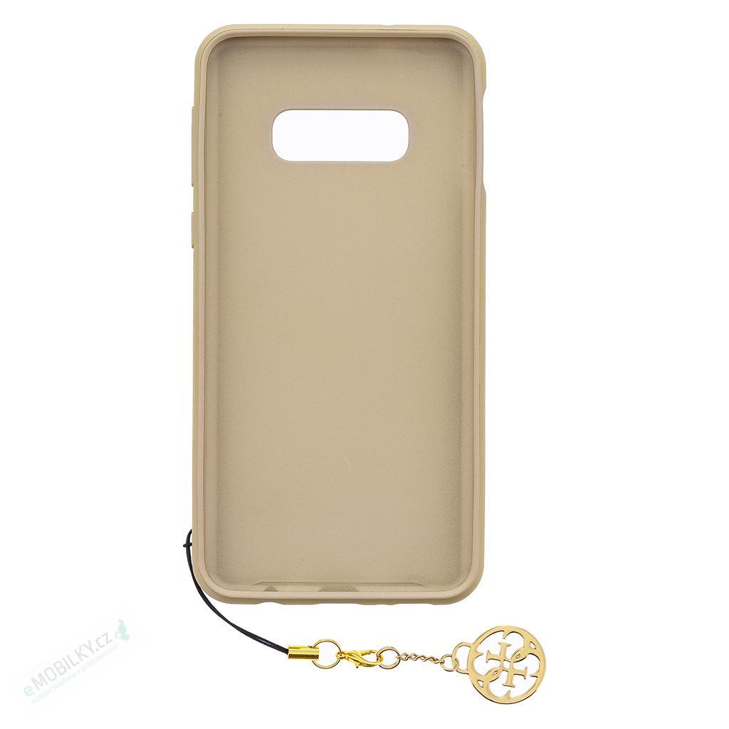GUHCS10LGF4GBR Guess Charms Hard Case 4G Brown pro Samsung G970 Galaxy S10e