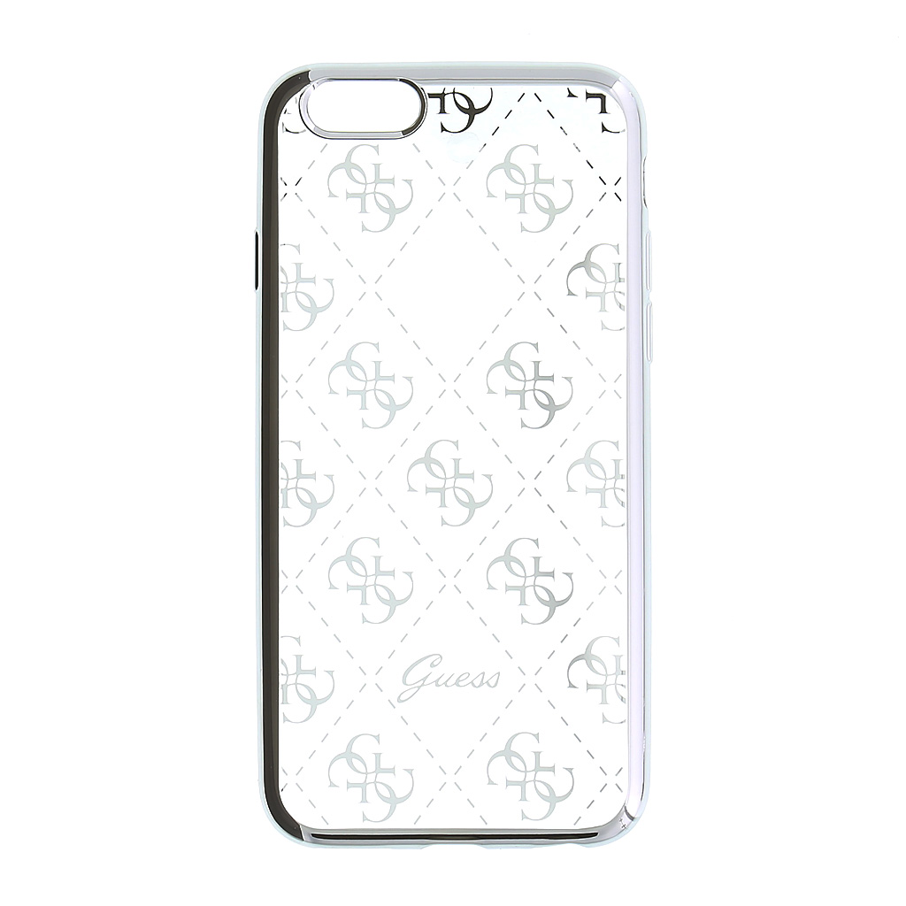 GUHCPSETR4GSI Guess 4G TPU Pouzdro Silver pro iPhone 5/5S/SE 3700740378410