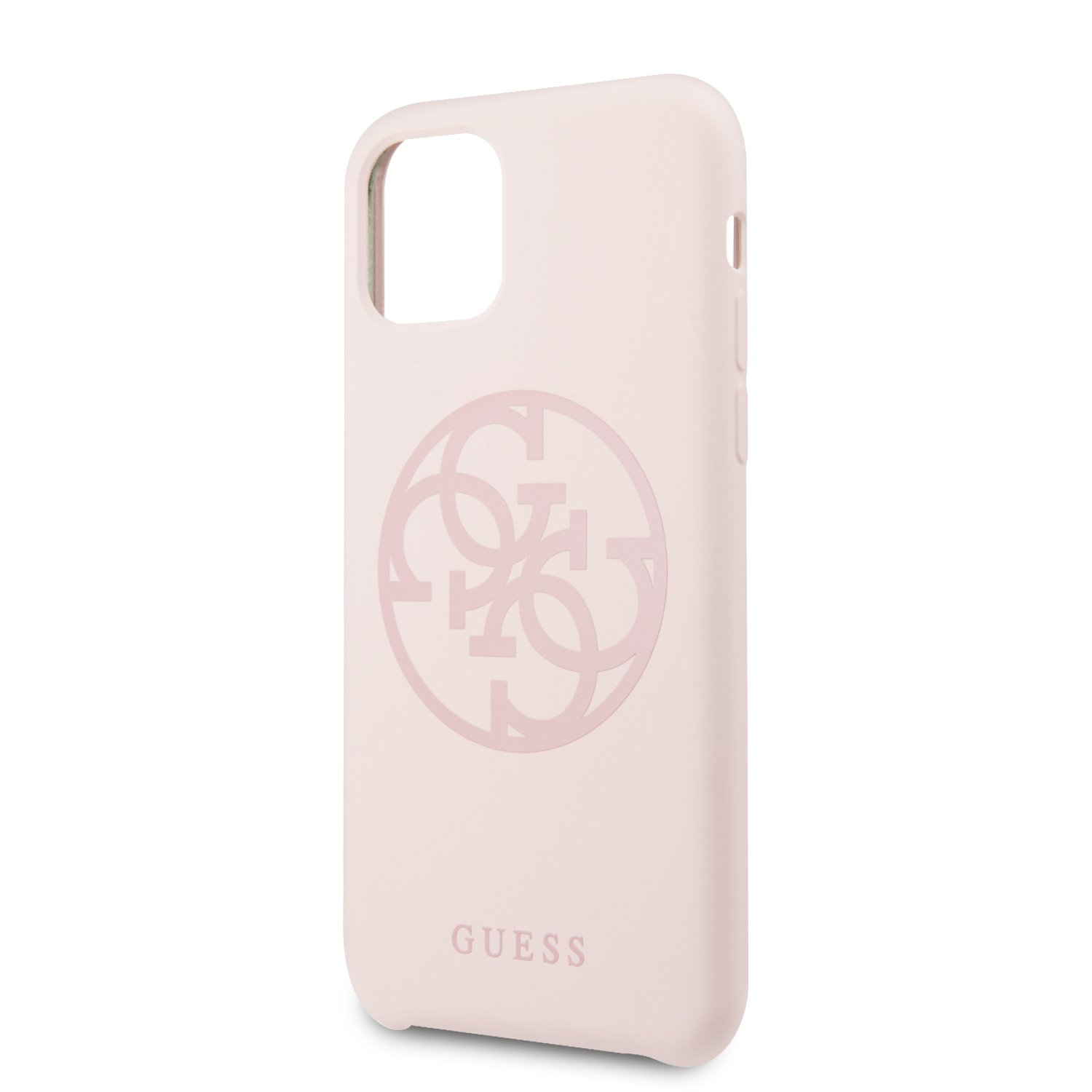 GUHCN61LS4GLP Guess 4G Silicone Tone Zadní Kryt pro iPhone 11 Light Pink 3700740463659