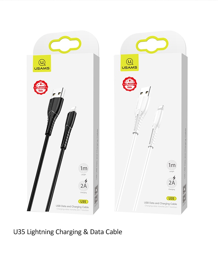 USAMS SJ364 U35 Datový Kabel Lightning Black 6958444981086