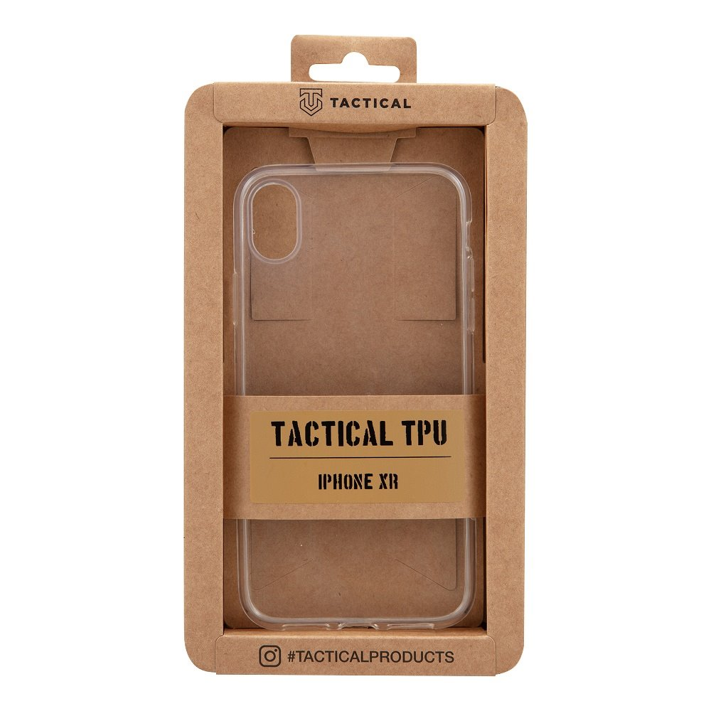 Tactical TPU Kryt pro Apple iPhone XR Transparent 8596311037030
