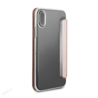 GUFLBKPXIGLTRG Guess Iridescent Book Pouzdro Rose Gold pro iPhone X / XS