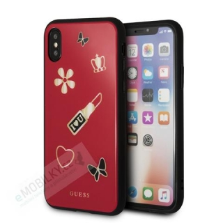 GUHCPXACLSRE Guess Iconic TPU Case Red pro iPhone X