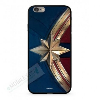 MARVEL Captain Marvel 022 Premium Glass Kryt pro iPhone 6/6S Blue