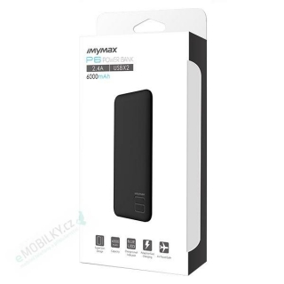 MyMAx P6 PowerBank 6000mAh Black (EU Blister)