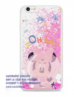 Disney Minnie 046 Glitter Back Cover Pink pro Samsung G965 Galaxy S9 Plus