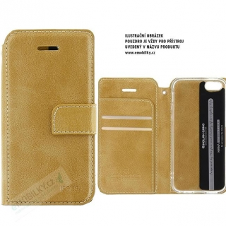 Molan Cano Issue Book Pouzdro pro iPhone X/XS Gold