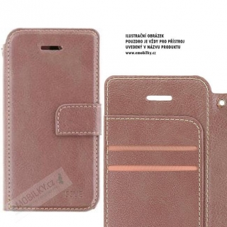 Molan Cano Issue Book Pouzdro pro iPhone XR Rose Gold