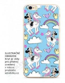 Disney Minnie 037 TPU Back Cover Blue pro iPhone 5/5S/SE