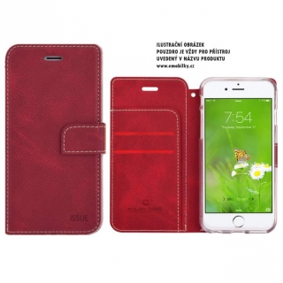Molan Cano Issue Book Pouzdro pro iPhone 5/5S/SE Red
