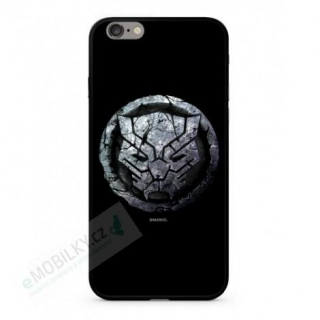 MARVEL Black Panther 015 Premium Glass Zadní Kryt pro iPhone 6/6S Plus Black