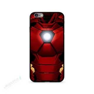 MARVEL Iron Man 024 Premium Glass Zadní Kryt pro iPhone 7/8 Plus Red