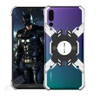 Luphie Heroes Rotation Aluminium Bumper Case Silver/Black pro Huawei P20 Pro