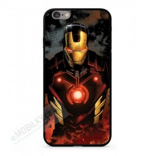 MARVEL Iron Man 023 Premium Glass Zadní Kryt pro iPhone 6/6S Plus Multicolored