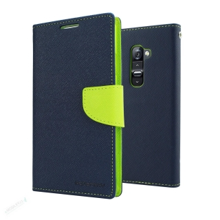 Mercury Fancy Diary Pouzdro pro iPhone X/XS Navy/Lime