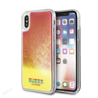 GUHCPXGLCPI Guess Glow in The Dark PC/TPU Kryt pro iPhone X/XS Sand/Pink (EU Blister)