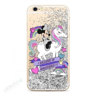 Disney Minnie 035 Glitter Back Cover Silver pro iPhone 6/7/8