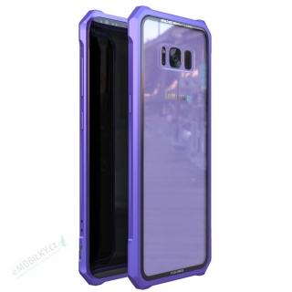 Luphie King of Snaps Magnetic Aluminium Bumper Case Glass Purple pro Samsung Galaxy S8 8596311053665