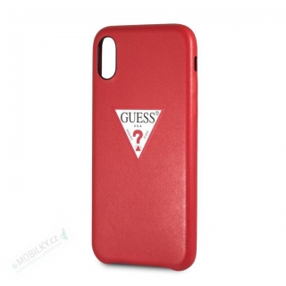 GUHCI65PTPURE Guess PU Leather Case Triangle Red pro iPhone XS Max