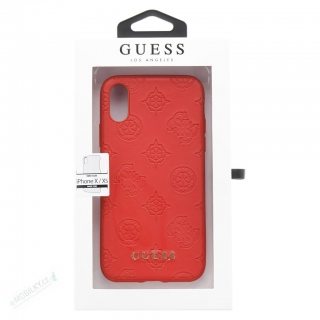 GUHCPXPELRE Guess Debossed Peony Zadní Kryt pro iPhone X/XS Red (EU Blister)