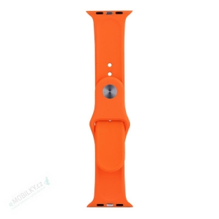 Tactical 495 Silikonový Řemínek pro iWatch 4 44mm Orange (EU Blister) 8596311073397