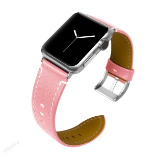 Tactical 039 Color Kožený Řemínek pro iWatch 4 44mm Pink (EU Blister) 8596311076176