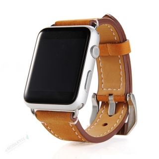 Tactical 291 Genuine Kožený Řemínek pro iWatch 4 44mm Brown (EU Blister) 8596311072796