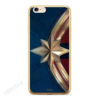 MARVEL Captain Marvel 001 Kryt pro iPhone XS Max Gold 5902980072907