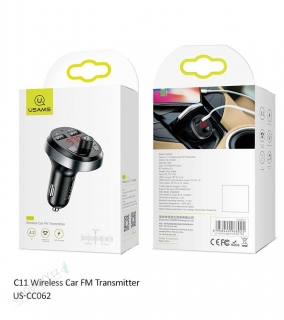 USAMS CC062 C11 Wireless Car FM Transmitter (EU Blister)