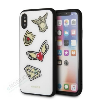 GUHCPXACCAWH Guess Iconic TPU Case White pro iPhone X / XS