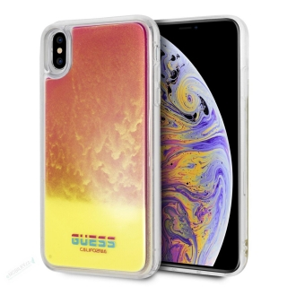 GUHCI65GLCPI Guess Glow in The Dark PC/TPU Kryt pro iPhone XS Max Sand/Pink (EU Blister)