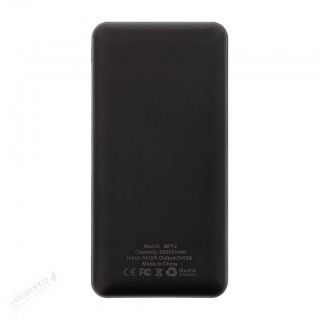 MyMAx MP12 PowerBank 20000mAh vč. LCD Type C/microUSB Black (EU Blister)