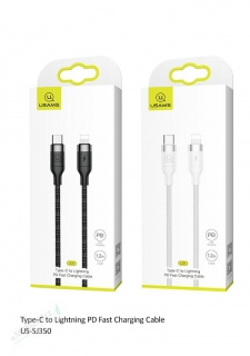 USAMS SJ350 Lightning/Type C Datový Kabel 1.2m Black (EU Blister)