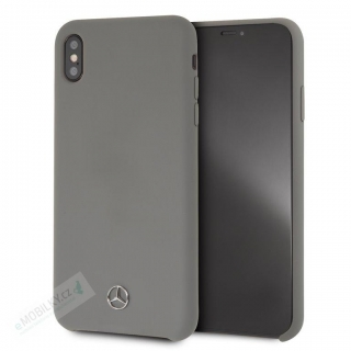 MEHCI65SILGR Mercedes Silicon/Fiber Case Lining Grey pro iPhone XS Max
