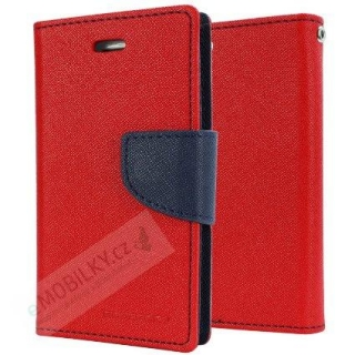Mercury Fancy Diary Pouzdro pro iPhone X/XS Red/Navy