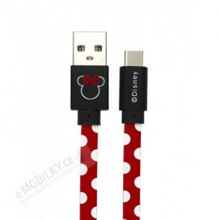 Disney Minnie Type C Datový Kabel Dots Red (EU Blister)