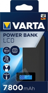 VARTA Power Bank LCD Dual USB 7800mAh (EU Blister) 4008496930661