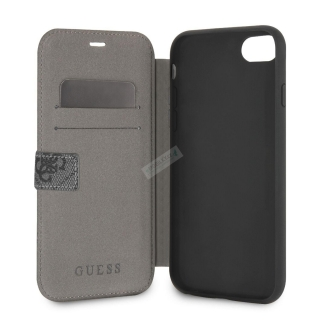 GUFLBKI84GG Guess Charms Book Case 4G Grey pro iPhone 7/8