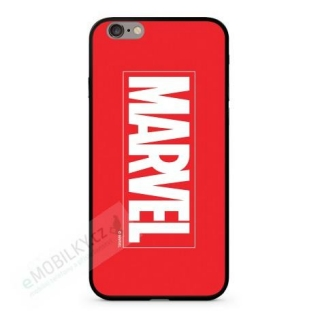 MARVEL 005 Premium Glass Zadní Kryt pro iPhone 6/6S Plus Red