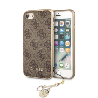 GUHCI8GF4GBR Guess Charms Hard Case 4G Brown pro iPhone 7/8 3700740434208