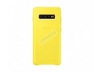 EF-VG975LYE Samsung Leather Cover Yellow pro G975 Galaxy S10 Plus (EU Blister) 8801643644390