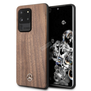MEHCS69VWOLB Mercedes Wood Kryt pro Samsung Galaxy S20 Ultra Brown 3700740473641