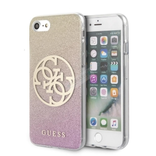 GUHCI8PCUGLPGG Guess Glitter 4G Circle Kryt pro iPhone 8/SE2020 Rose Gold 3700740471524