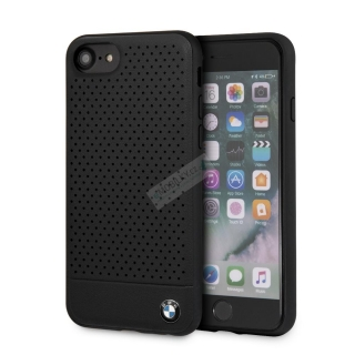 BMHCI8PEBOBK BMW Perforated Leather Hard Case pro iPhone 8 Black 3700740433607