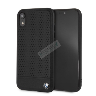 BMHCI61PEBOBK BMW Perforated Leather Hard Case pro iPhone XR Black 3700740434796