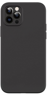 USAMS US-BH729 Magnetic Liquid Silicon Kryt pro iPhone 12 Black 6958444968841