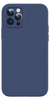 USAMS US-BH729 Magnetic Liquid Silicon Kryt pro iPhone 12 Blue 6958444968858