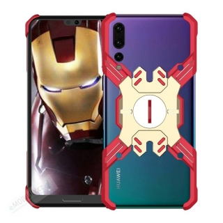 Luphie Heroes Rotation Aluminium Bumper Case Red/Gold pro Huawei P20 Pro