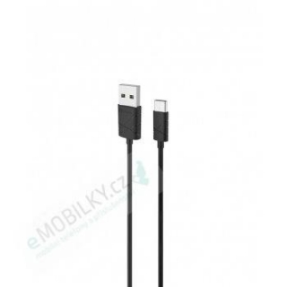 USAMS SJ042 Datový Kabel Type C U-Gee Black (EU Blister)