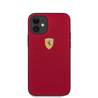 FESPEHCP12SRE Ferrari On Track Perforated Zadní Kryt pro iPhone 12 mini 5.4 Red 3700740479599